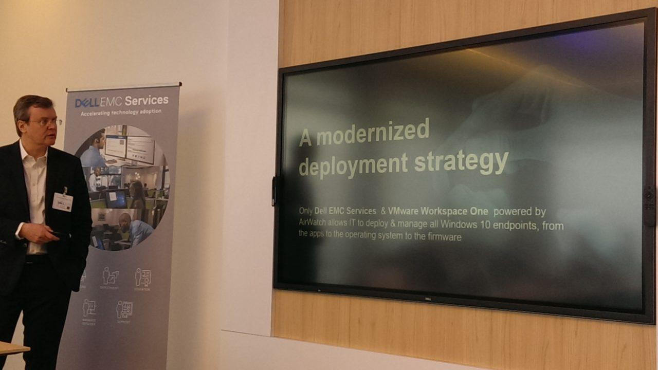 A sinistra, Stéphane Reboud, Vice President Support and Deployment Services di Dell EMC per la regione Emea