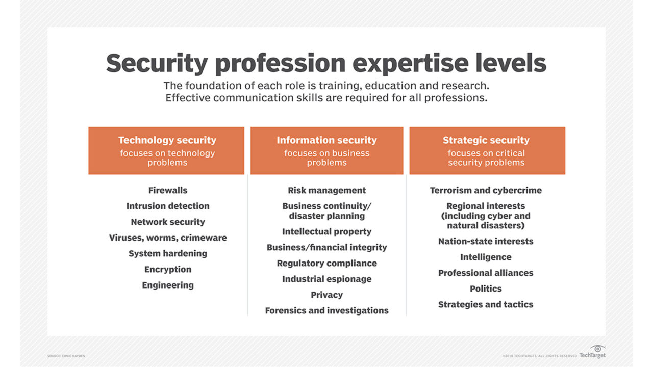 security profession expertise