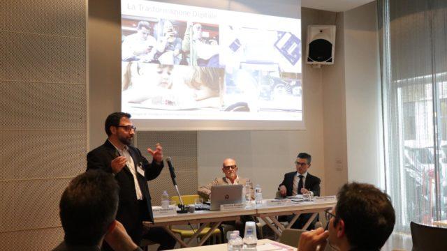 Un momento della presentazione di Massimo Ficagna