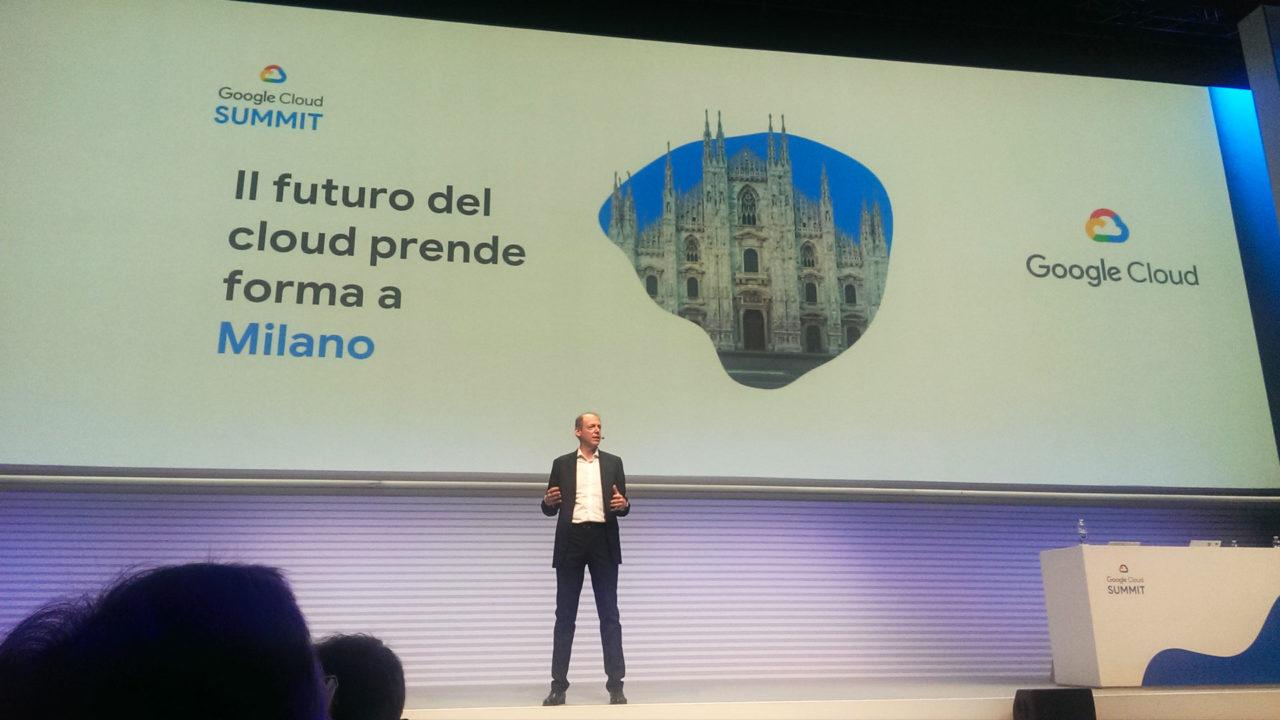 fabio fregi sul palco del google cloud summit