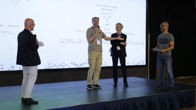 Foto della premiazione di Cisco