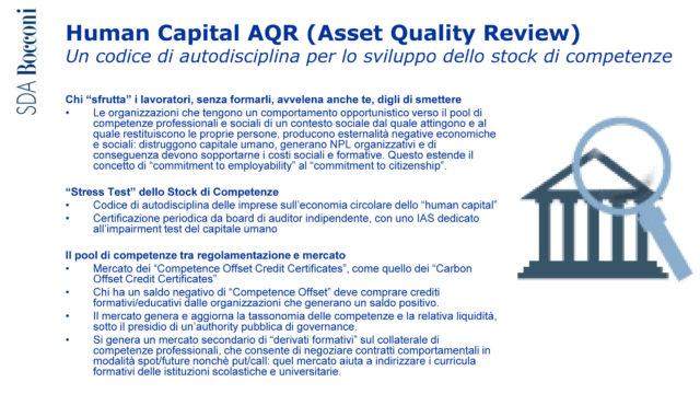 Il codice Human Capital AQR (Asset Quality Review) proposto da Carlo Alberto Carnevale Maffè