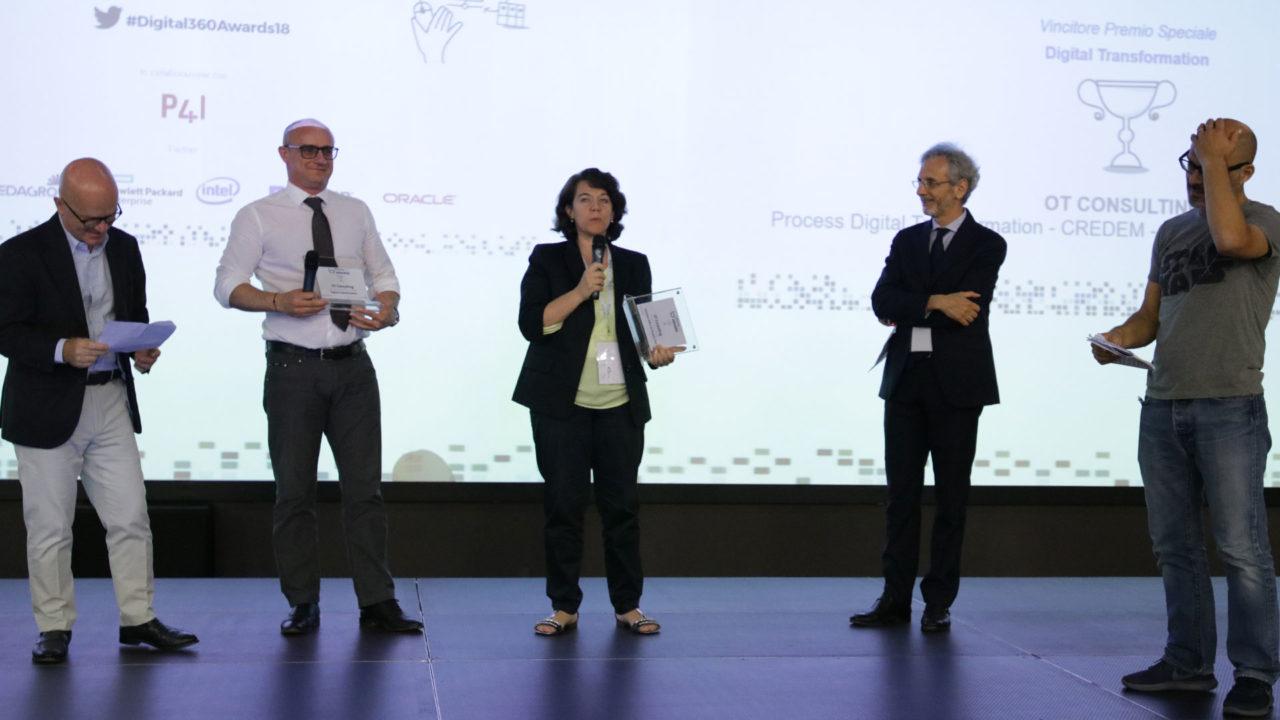 foto della premiazione di ot consulting
