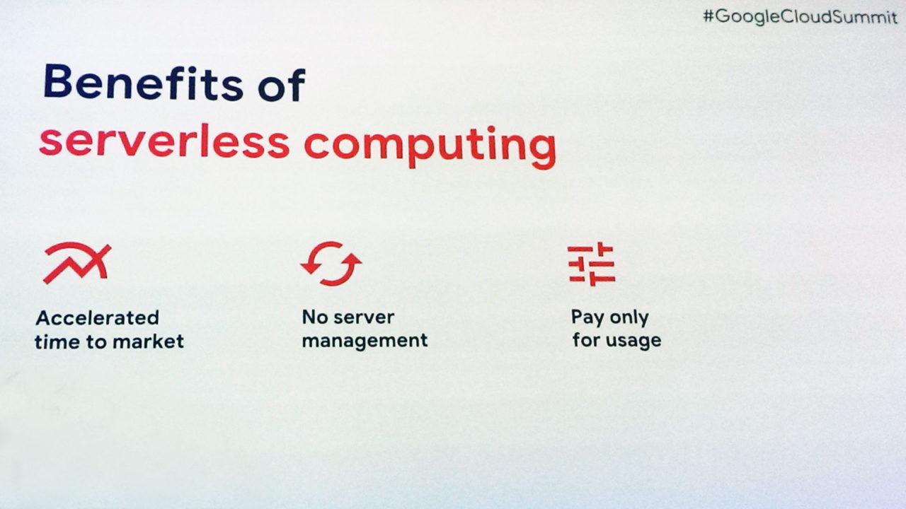 vantaggi chiave del computing serverless