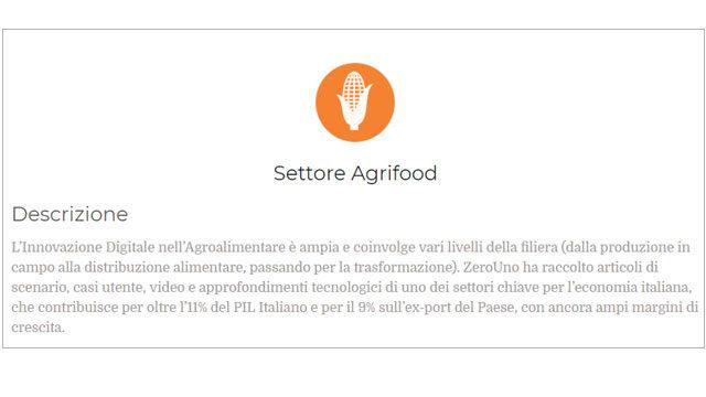 Immagine sul settore Agrifood