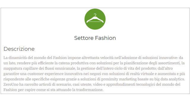 Immagine sul Settore Fashion