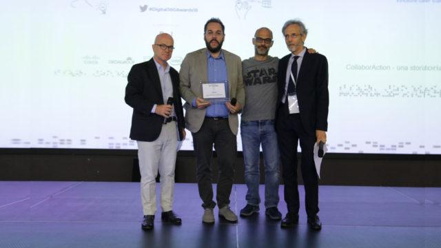 Foto della premiazione di Injenia