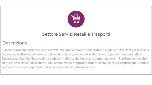 Immagine Settore Servizi, Retail e Trasporti