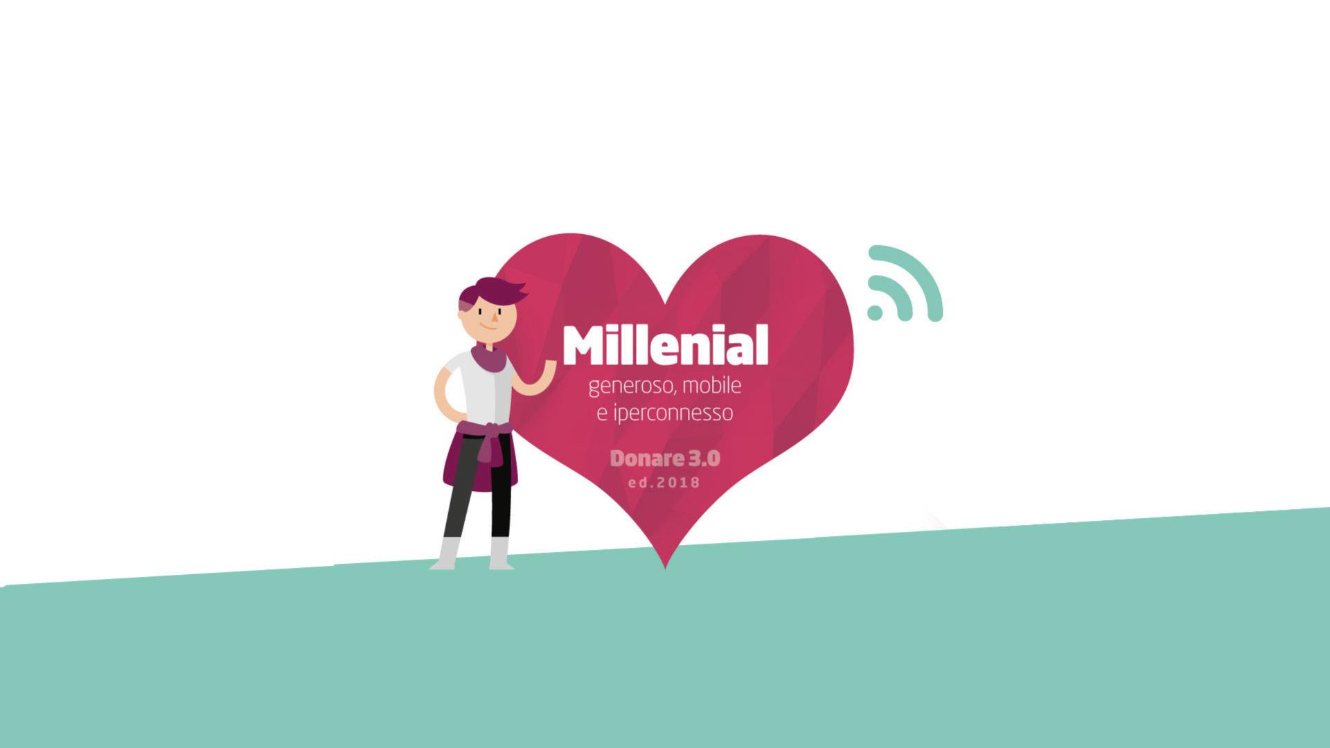 I millennial donano via web