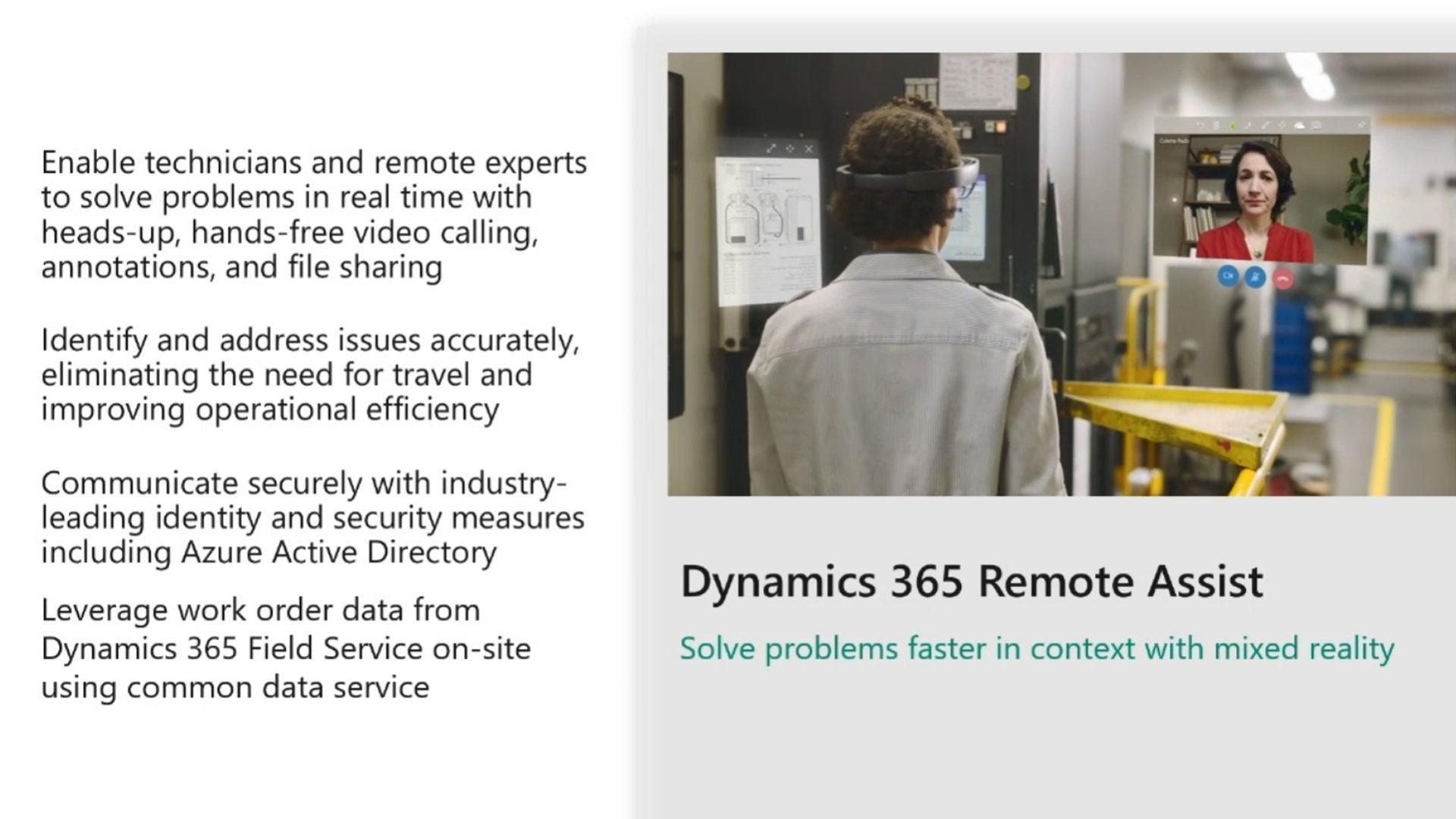 Schema del funzionamento di Dynamics 365 Remote Assist
