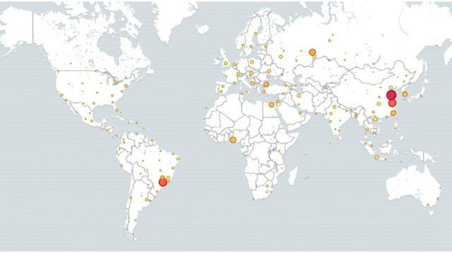 La mappa degli attacchi su Telnet