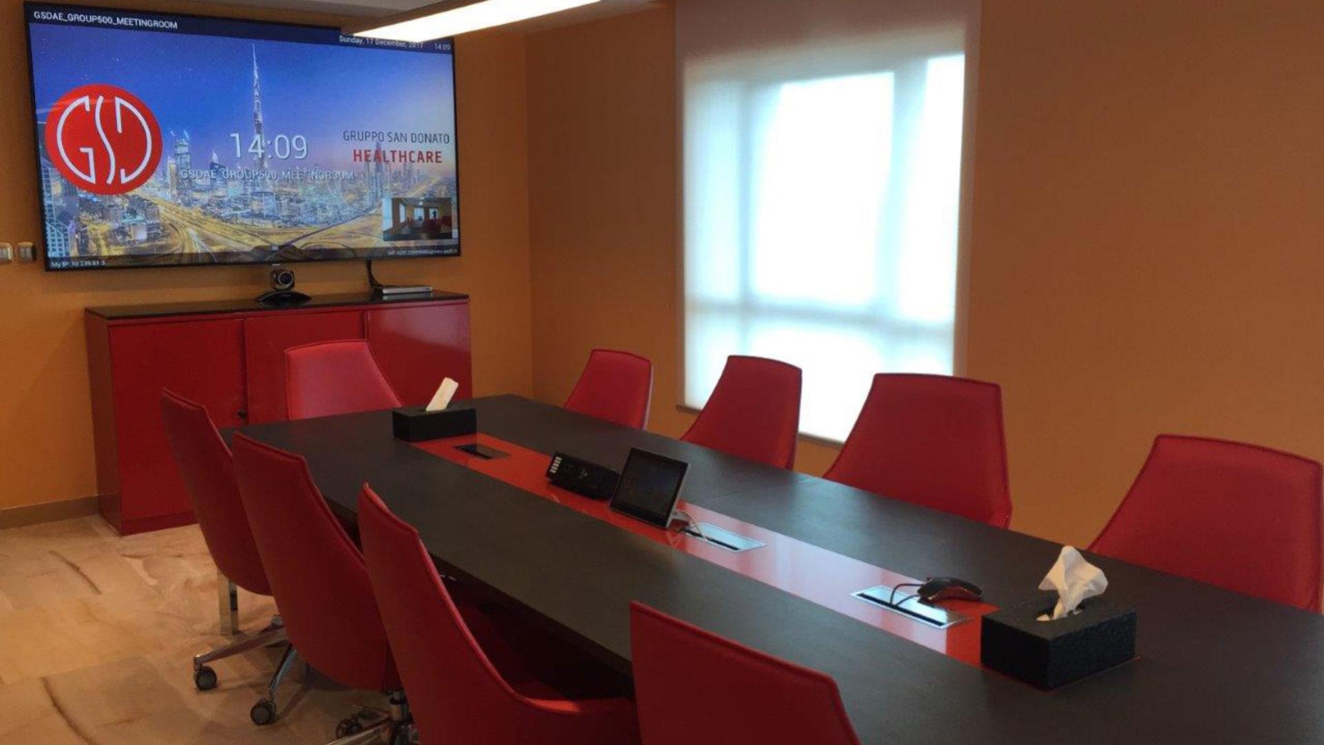 Fotografia della sala riunioni di GSD