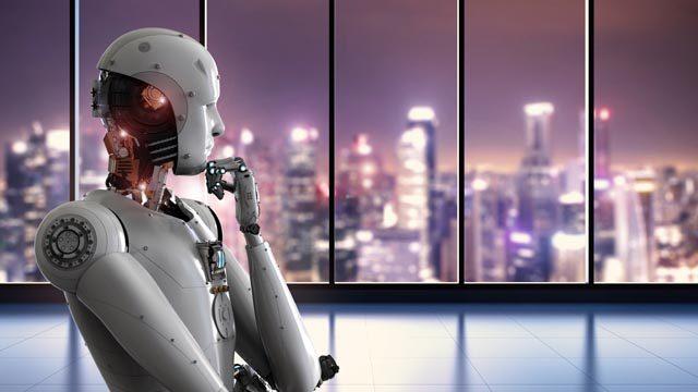 Concetto di artificial intelligence in campo