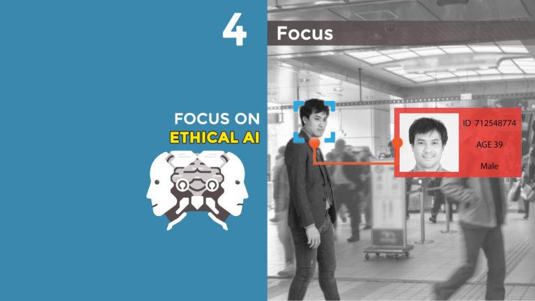 Concetto di Intelligenza Artificiale e riconoscimento facciale