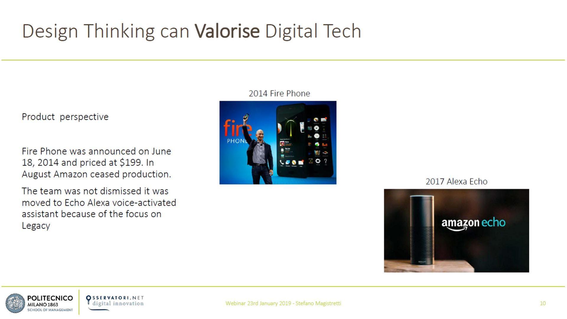 Figura 1 - L'impatto delle tecnologie digitali sul Design Thinking - Fonte: Osservatori Digital Innovation del Politecnico di Milano