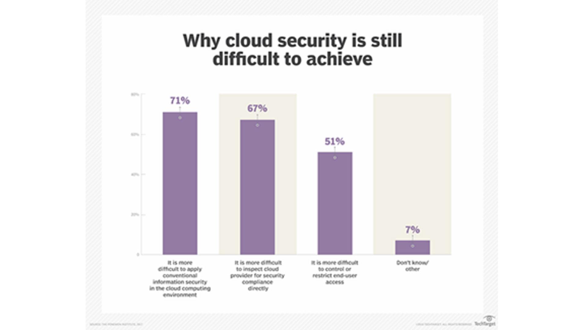 Grafico sulla cloud security