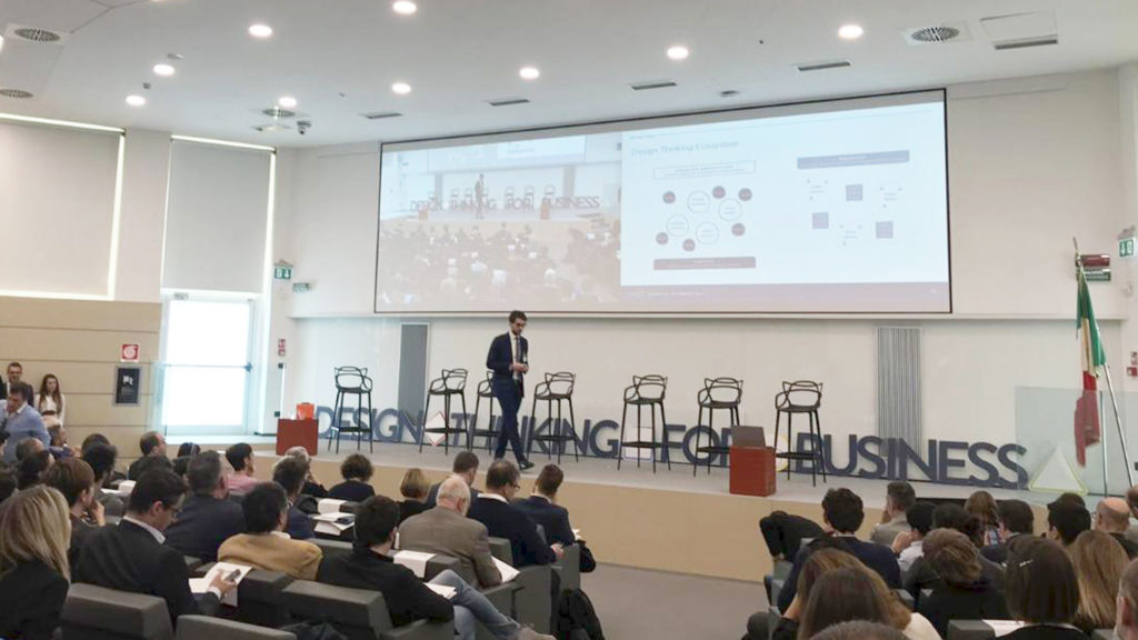 L'intervento di Magistretti durante l'Osservatorio Design Thinking 2019