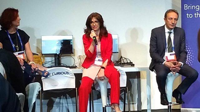 Angelo Tenconi, Senior Director Customer Advisor di SAS Emea, e Mirella Cerutti, country manager di SAS Italia, durante la conferenza stampa al SAS Forum Milan 2019