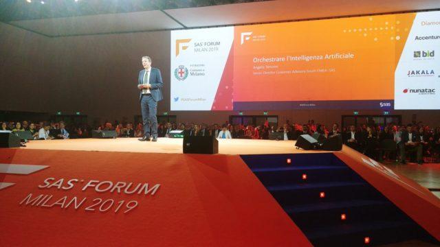 Angelo Tenconi dal palco di SAS Forum Milan 2019