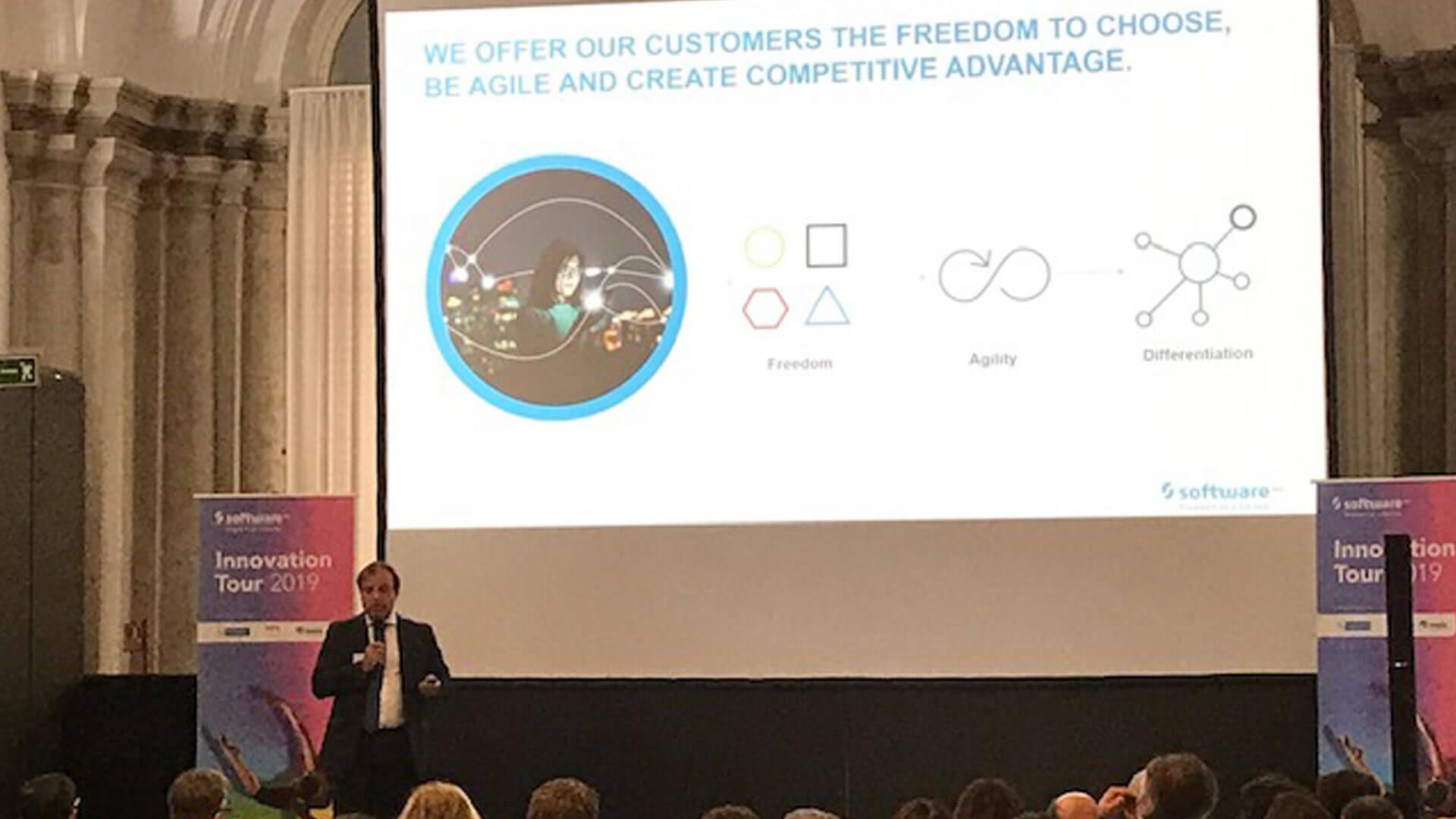 Fabio Todaro durante un momento del Software AG Innovation Tour 2019