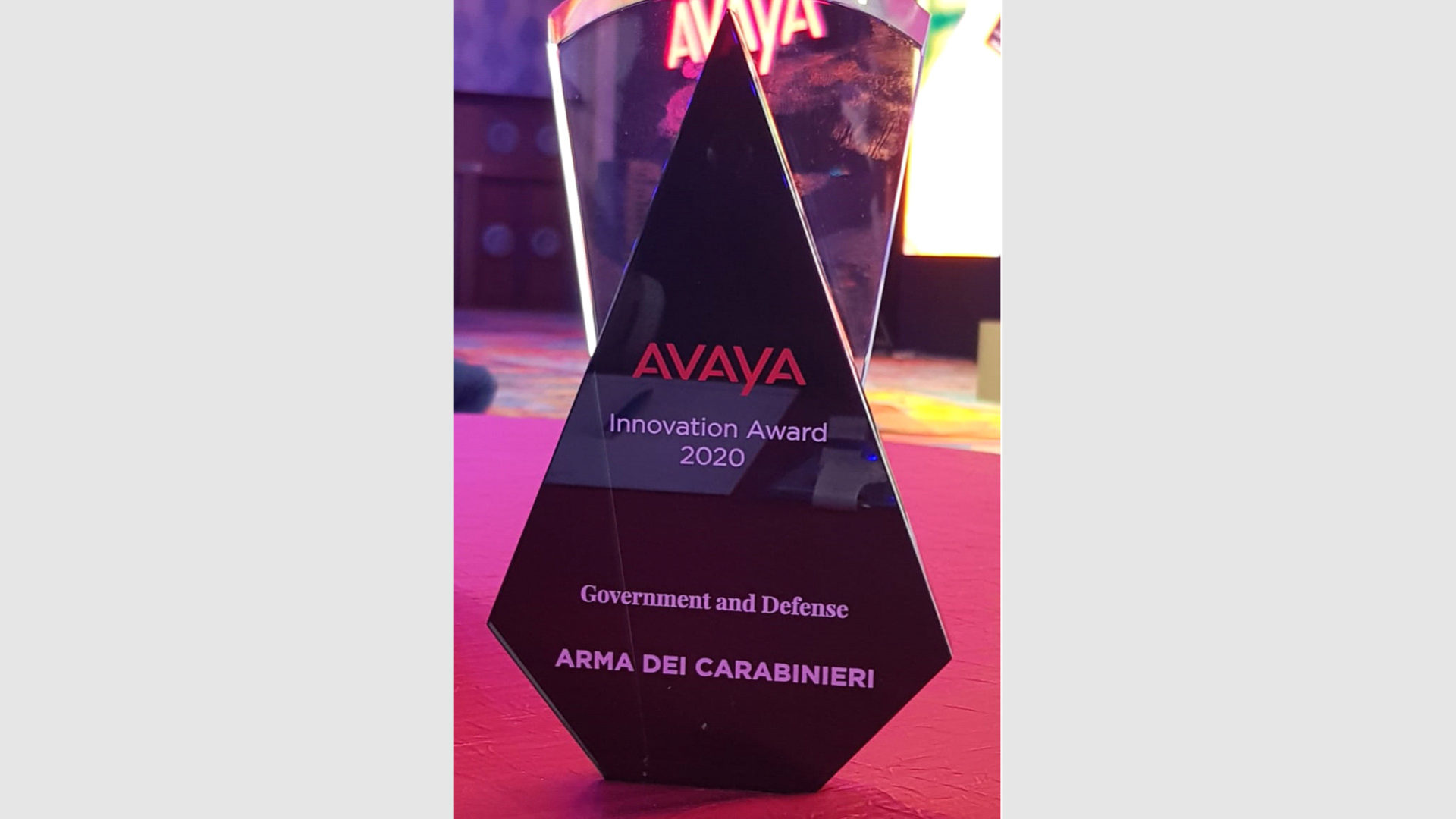 1 Avaya International Award for Innovation, Government and Defense