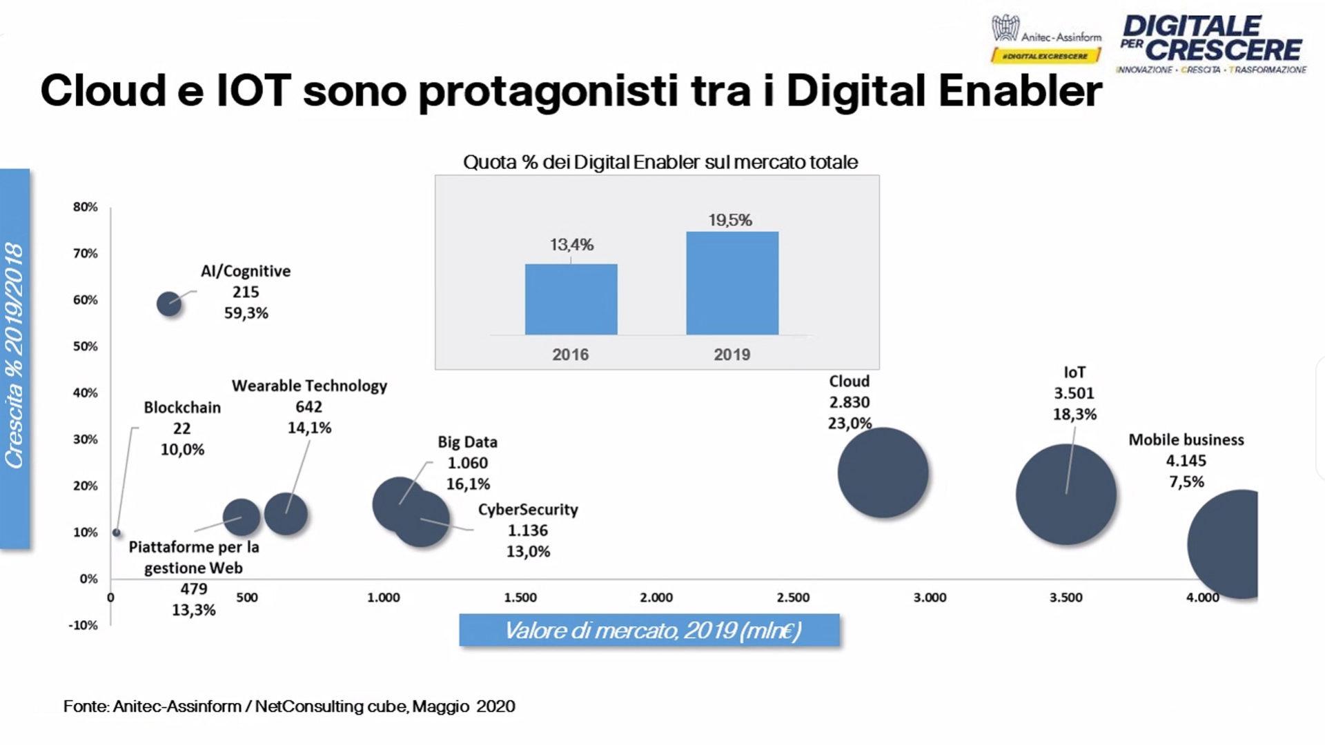Figura 9 Rapporto Assinform Anitec 2020