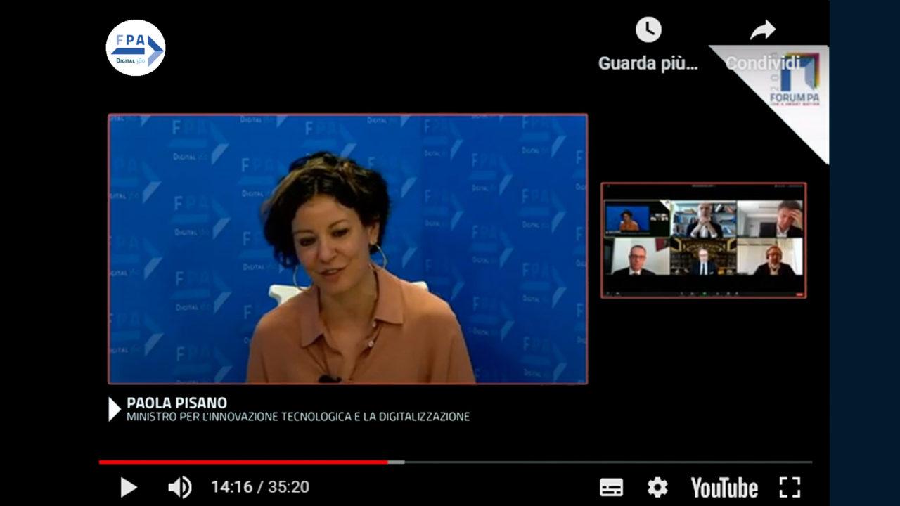 Paola Pisano, Ministra per l'Innovazione tecnologica e la Digitalizzazione al Forum PA 2020