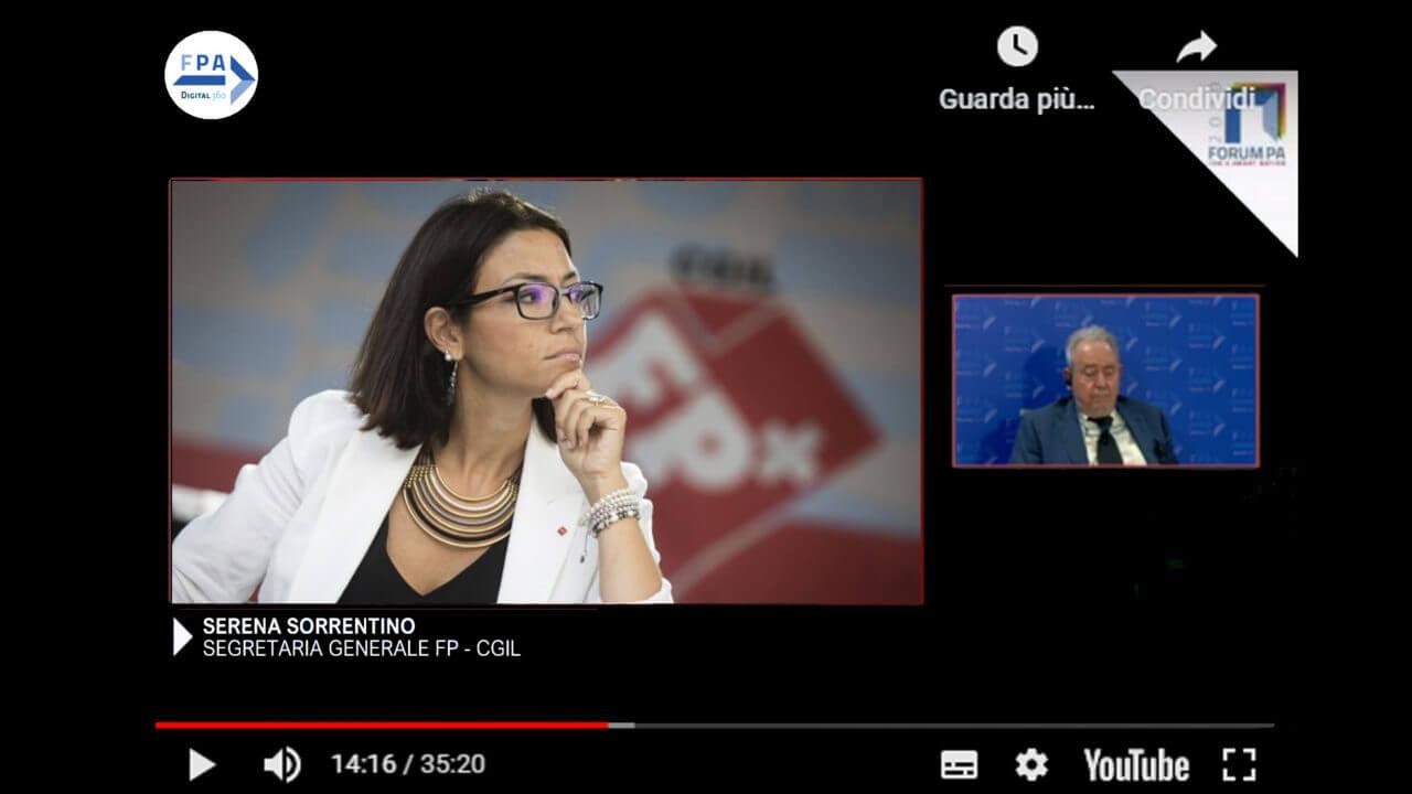 Serena Sorrentino, Segretaria Generale FP - CGIL