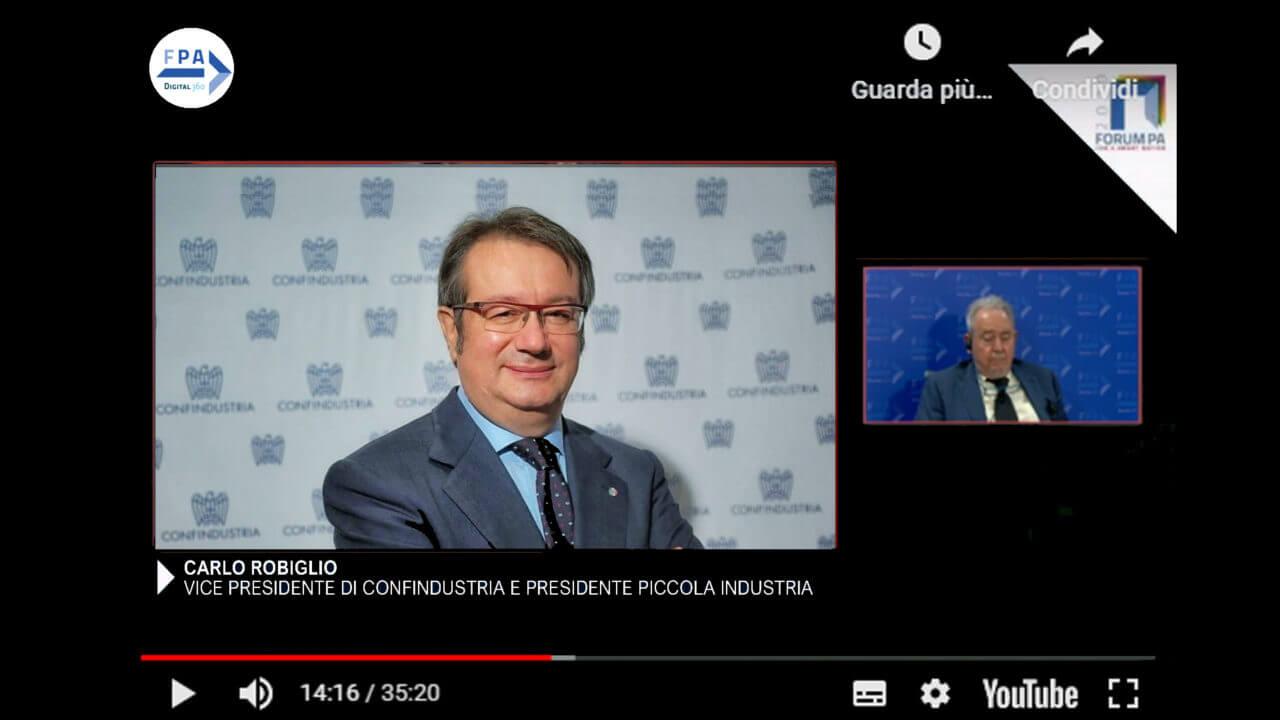 Carlo Robiglio, Vice Presidente di Confindustria e Presidente Piccola Industria con delega per Resilienza, Business continuity e Programma Gestione Emergenze