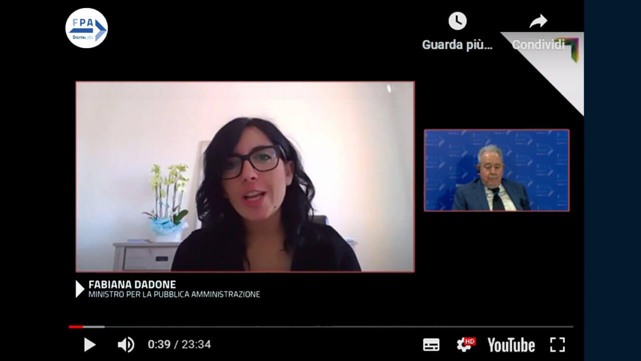 Fabiana Dadone, Ministra per la Pubblica Amministrazione al Forum PA 2020